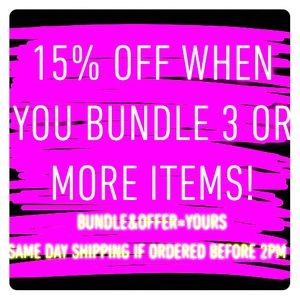 Other - Make an Offer!! Create a Bundle!! 15% OFF